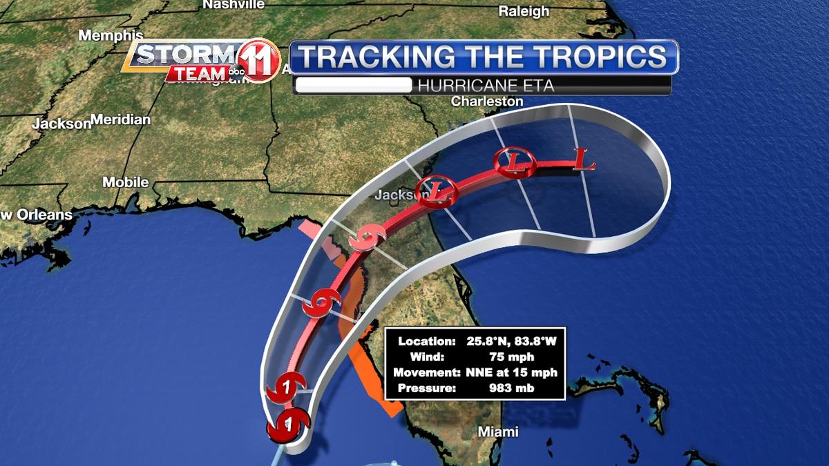 Hurricane Eta Track - 3 a.m. Nov 11