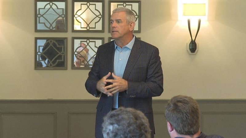 Philip Gunn, Miss. Speaker of the House, talked with the Rotary Club Wednesday