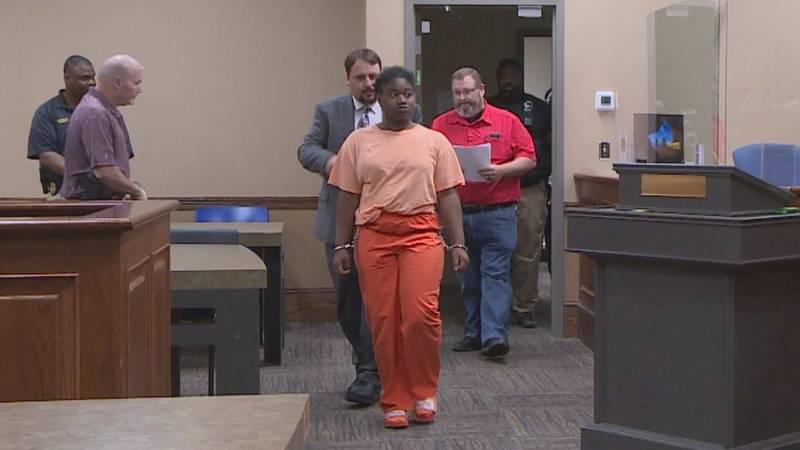 Saharra Carr has first court appearance.