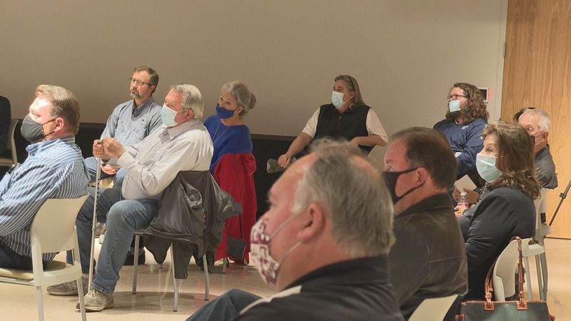 Business owners met with city leaders to discuss the 22nd Avenue project.