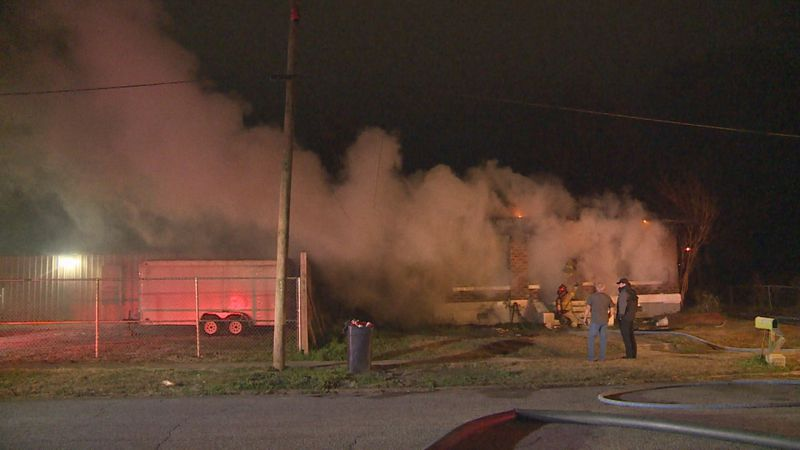 The Meridian Fire Department was called to a fire that overtook a home near the corner of A...