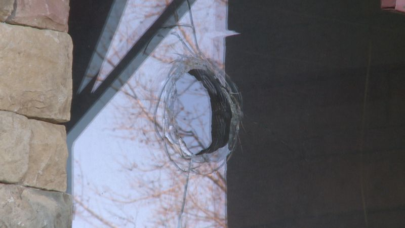 Gunshots went through a window of the restaurant that was formerly known as Beef O'Bradys.