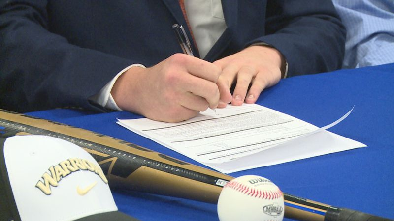 Three student-athletes at Newton County signed National Letters of Intent during a special...