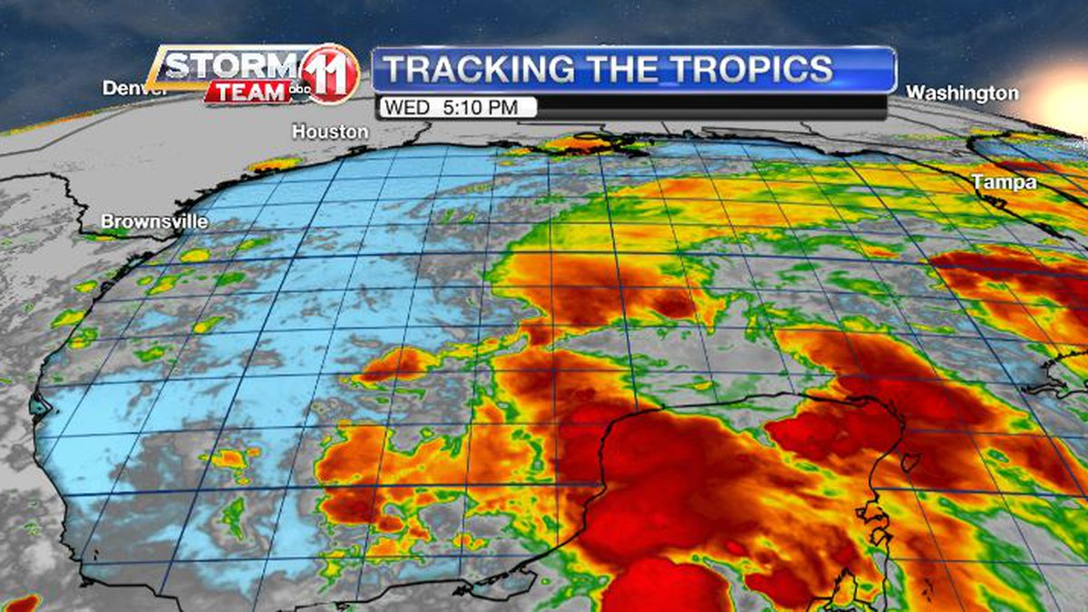 A tropical disturbance in the Gulf could become a tropical depression or a tropical storm....