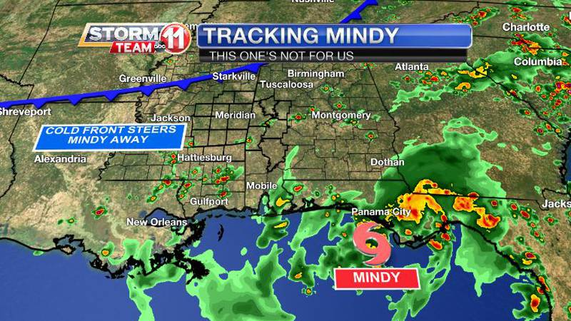Tropical Storm Mindy formed in the Gulf of Mexico Wednesday afternoon. An approaching cold...