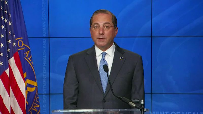 "HHS Sec. Alex Azar: ""We project having enough for every American who wants a vaccine by March..."