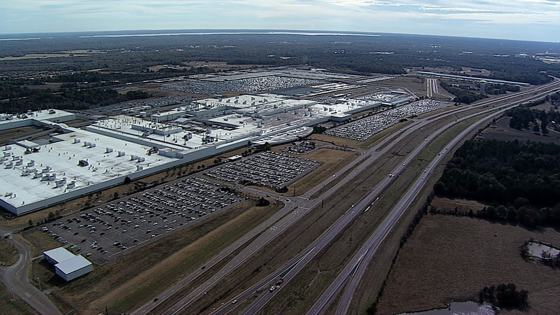 Nissan plant in Canton, Mississippi