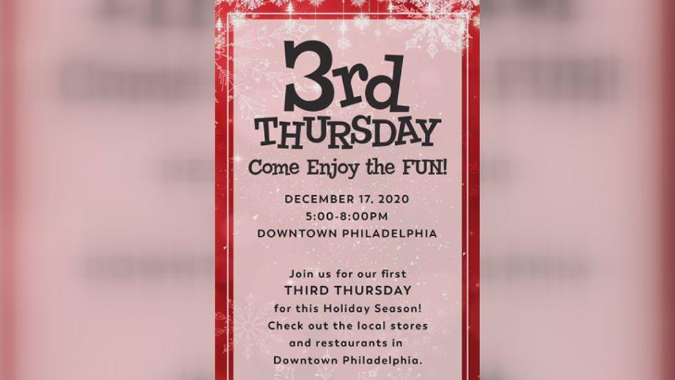 Third Thursday in Philadelphia.