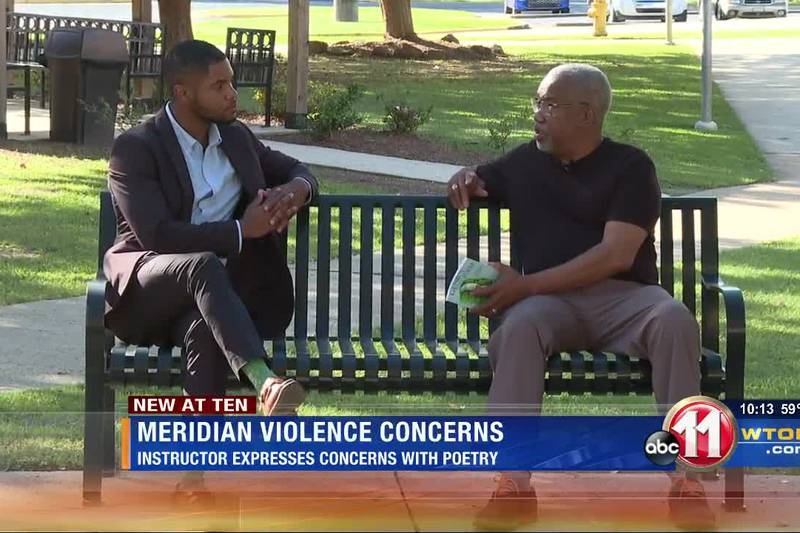 Man voices Meridian violence concerns through poetry
