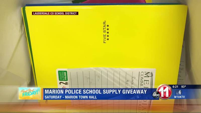 Marion Police school supply giveaway is Saturday