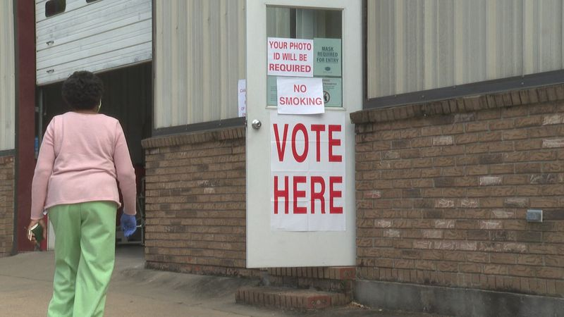 A Demopolis voter heads to a polling place.