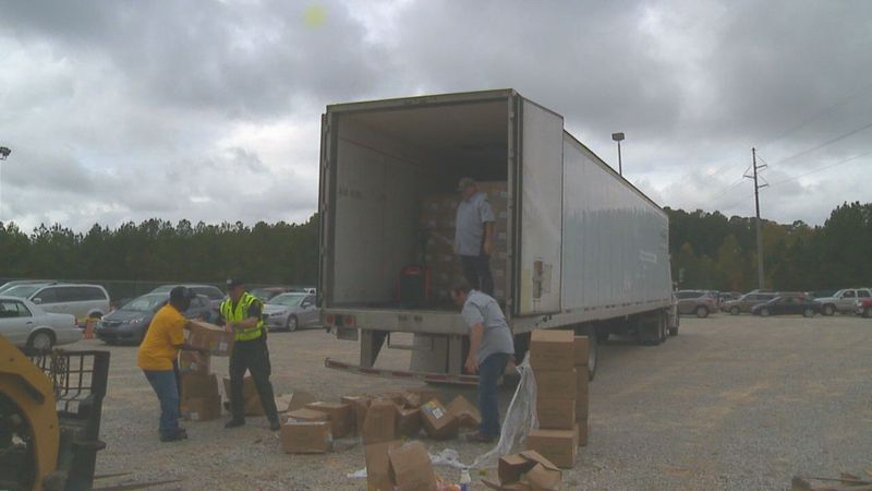 Lauderdale County Food Drive.