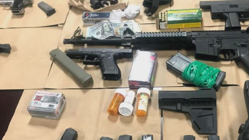 Guns seized by MPD