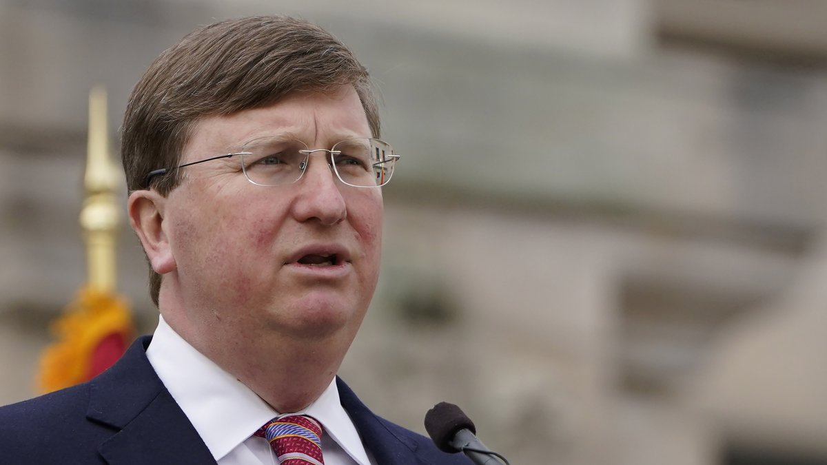 FILE - Mississippi Gov. Tate Reeves delivers his State of the State speech on Tuesday, Jan. 26,...