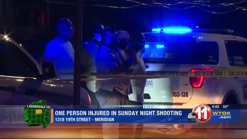 One person injured in Sunday night shooting