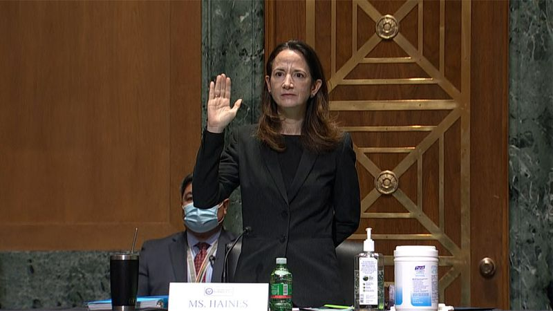 Avril Haines, Biden's choice for intelligence chief, testifies before the Senate intelligence...