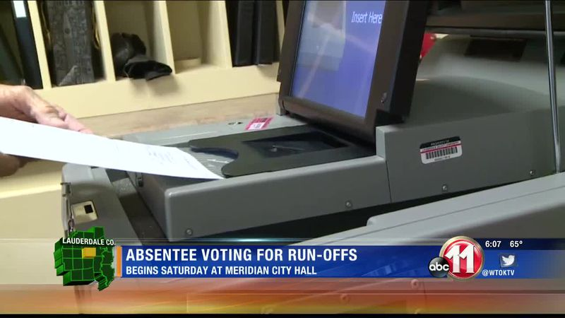 City of Meridian announces dates and times for absentee voting