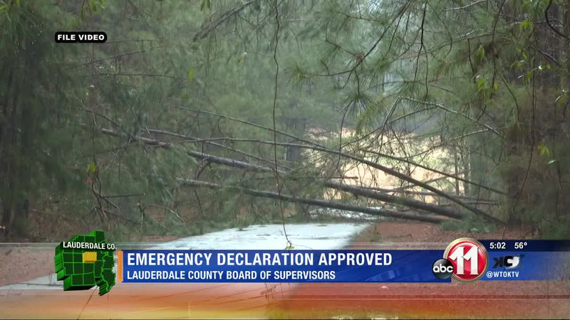Local emergency proclamation approved by Lauderdale County Board of Supervisors