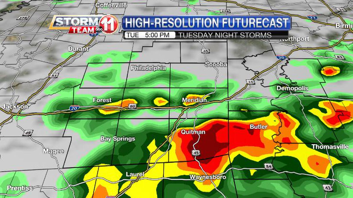 Storms will arrive after 4 PM, and they can bring heavy rain and localized damaging wind gusts.