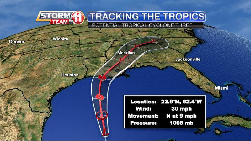 The National Hurricane Center issued its first advisory on Potential Tropical Cyclone Three on...