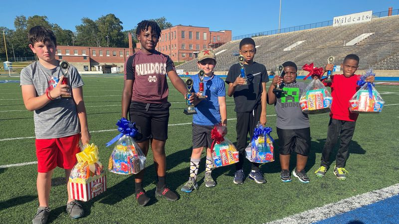Winners for the Meridian Parks and Rec punt, pass and kick competition.