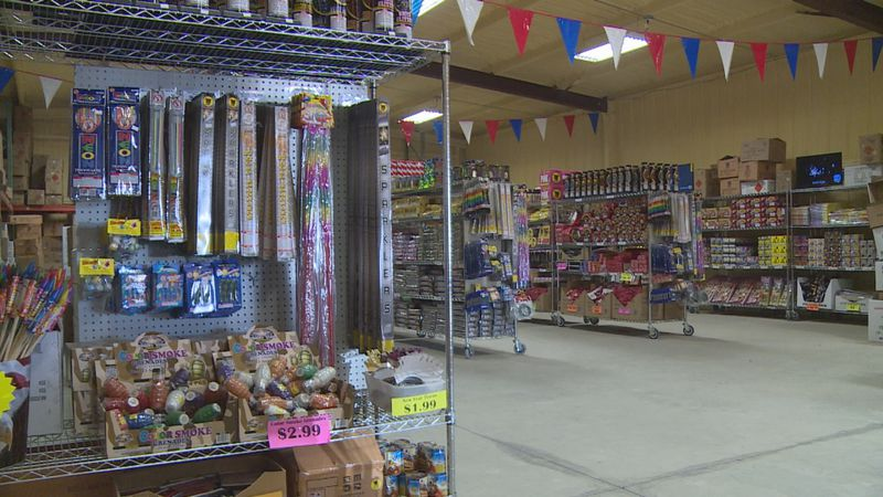 Many are choosing to have fireworks shows at home for NYE this year.