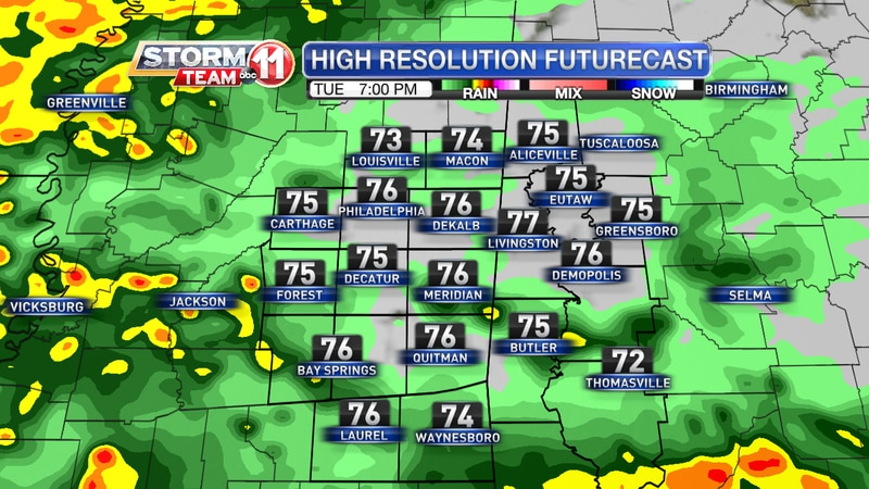 Futurecast - Tuesday May 11, 2021 at 7 PM