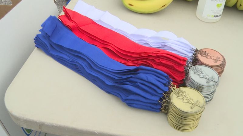 State Games of Mississippi gold, silver and bronze medals.