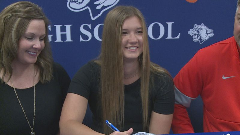 Newton County softball player Lanie Phillips signed her National Letter of Intent in a special...