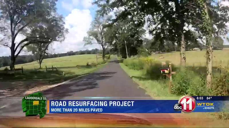 3 Lauderdale Co. roads resurfaced in recent project