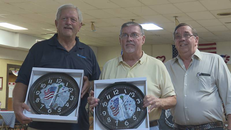 The VFW recognized the pilots who perform flyovers for special events