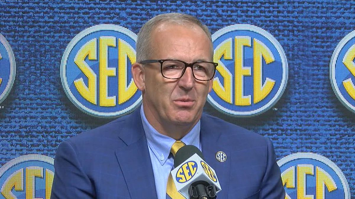 SEC Commissioner Greg Sankey. (Source: Christina Chambers/WBRC)
