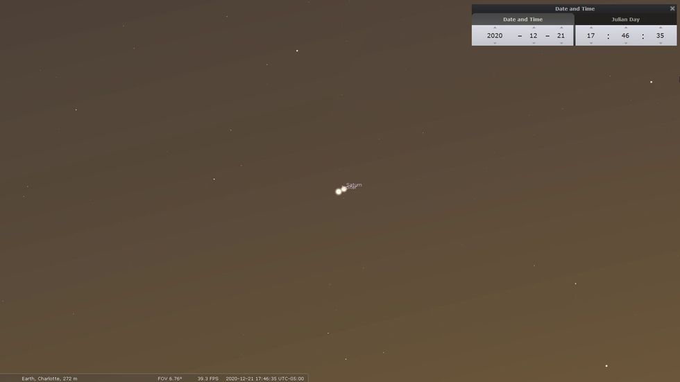 Jupiter/Saturn conjunction.